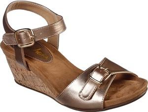 Sandały Skechers ze skóry z klamrami