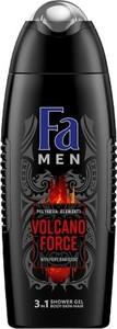 Fa, Men Polynesia Elements Volcano Force Shower Gel, żel pod prysznic do mycia ciała i włosów dla mężczyzn, 400 ml