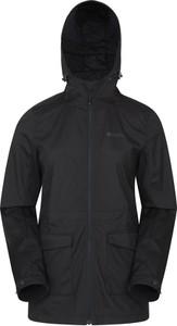 Czarna kurtka Mountain Warehouse z tkaniny w stylu casual krótka