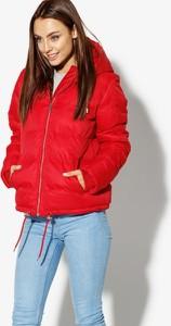 Czerwona kurtka Confront krótka w stylu casual