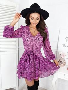 Różowa sukienka Infinityfashion.pl w stylu casual