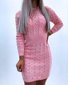 Sukienka Kendallme mini z okrągłym dekoltem z bawełny