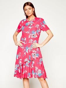 Sukienka Calvin Klein rozkloszowana midi w stylu casual