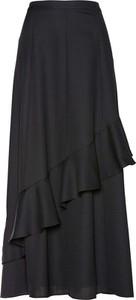 Czarna spódnica bonprix bpc selection premium midi z szyfonu