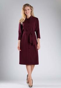 Sukienka Nommo midi szmizjerka z długim rękawem