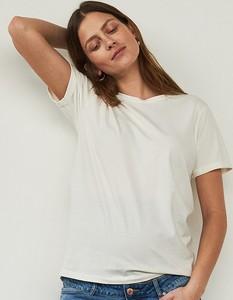 T-shirt Reserved z bawełny z okrągłym dekoltem