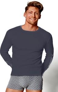Granatowa koszulka Henderson z bawełny