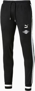 Czarne spodnie sportowe Puma z dresówki