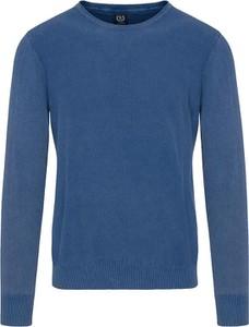 Niebieski sweter Lavard z bawełny w stylu casual