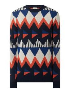 Granatowy sweter Esprit z okrągłym dekoltem