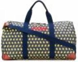 Brązowa torba podróżna Mc2 Saint Barth ze skóry