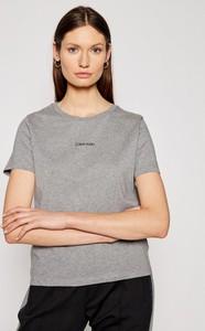 T-shirt Calvin Klein z krótkim rękawem z okrągłym dekoltem w stylu casual
