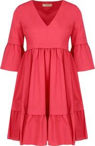 Sukienka Twinset z dekoltem w kształcie litery v midi z długim rękawem