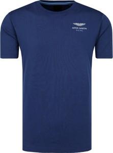 Niebieski t-shirt Hackett London z krótkim rękawem
