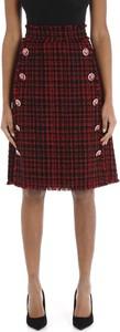 Czerwona spódnica Dolce & Gabbana midi