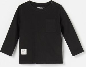 Czarna koszulka dziecięca Reserved dla chłopców
