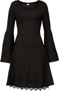 Czarna sukienka bonprix w stylu casual