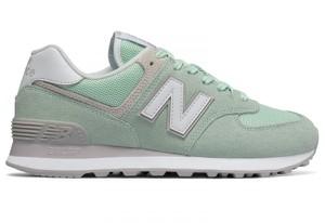 Zielone buty New Balance sznurowane w sportowym stylu 574