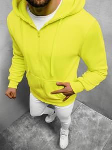 Żółta bluza ozonee.pl z bawełny w młodzieżowym stylu