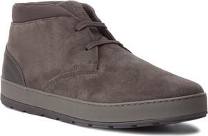 Brązowe buty zimowe Geox sznurowane w stylu casual