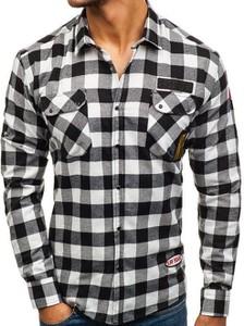 Czarna koszula Denley z klasycznym kołnierzykiem z bawełny