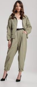 Zielone spodnie Renee w stylu klasycznym