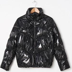 Czarna kurtka House krótka w stylu glamour