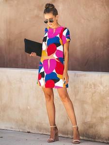 Sukienka Coconut Sunwear w stylu casual z krótkim rękawem
