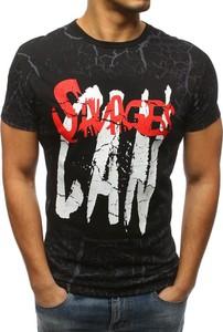 Czarny t-shirt Dstreet w młodzieżowym stylu