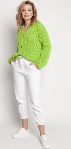 Zielony sweter MKM w stylu casual z bawełny