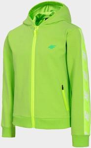 Zielona bluza dziecięca 4F z bawełny