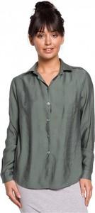 Zielona koszula Be z długim rękawem