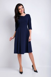 Niebieska sukienka Awama midi