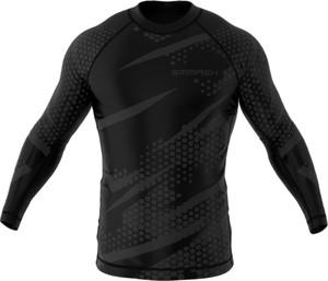 Czarna koszulka z długim rękawem Smmash z tkaniny