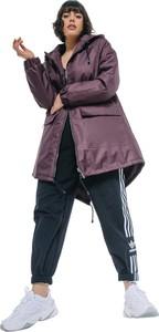 Fioletowa kurtka REST FACTORY w stylu casual z tkaniny