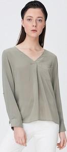 Zielona koszula Sinsay z długim rękawem