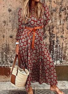 Sukienka Cikelly z długim rękawem maxi