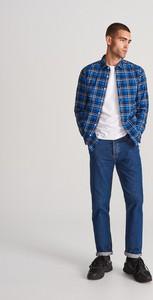 Niebieska koszula Reserved z długim rękawem