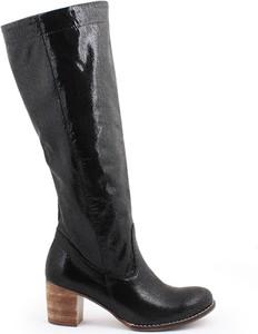 Zapato kozaki - skóra naturalna - model 154 - kolor czarny łapki