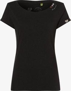 Czarny t-shirt Ragwear z okrągłym dekoltem w stylu casual