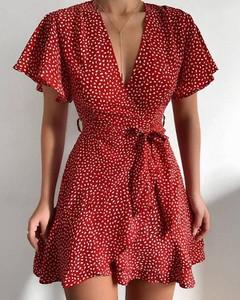 Sukienka Kendallme z dekoltem w kształcie litery v mini kopertowa