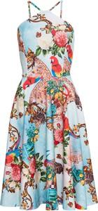 Sukienka bonprix BODYFLIRT boutique bez rękawów z dekoltem halter