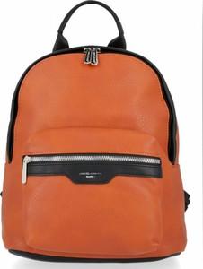 Pomarańczowy plecak David Jones ze skóry