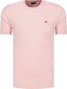 T-shirt Napapijri w stylu casual z krótkim rękawem