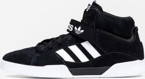 Czarne buty sportowe Adidas sznurowane ze skóry