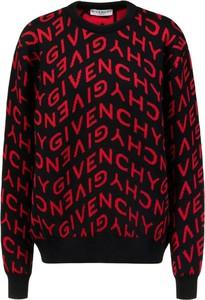 Czarny sweter Givenchy z okrągłym dekoltem w młodzieżowym stylu