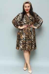 Brązowa sukienka KARKO z tkaniny oversize w stylu casual