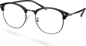 Paul Riley Matowe czarne okulary klasowe