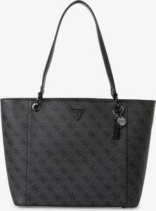 Czarna torebka Guess matowa w wakacyjnym stylu na ramię