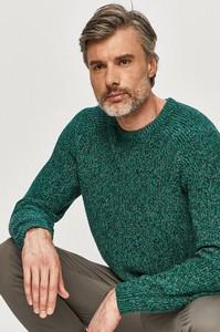 Zielony sweter Pepe Jeans z dzianiny